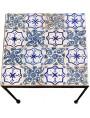 Piccolo tavolo con piastrelle marocchine
