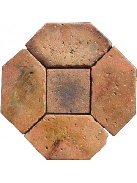 Basket floor - antique terracotta cutted by us
