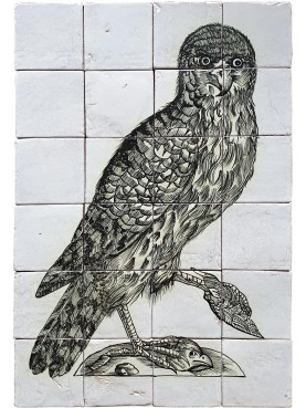 Pannello di Piastrelle Falcone dell'Aldrovandi