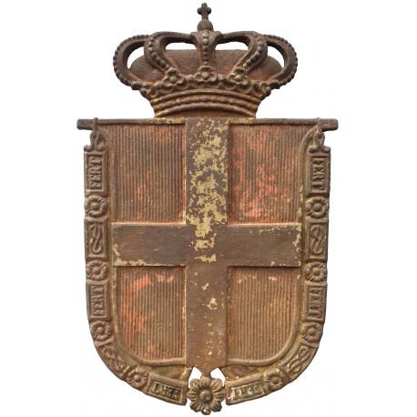 Grande stemma in ghisa di Casa Savoia