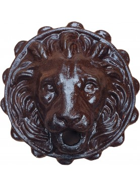 Cast iron lion copy of the mask of the Bourbon fountain of Eboli