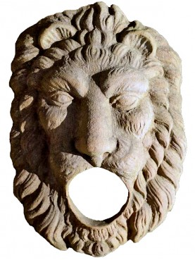 Lion fountain Mask in terracotta