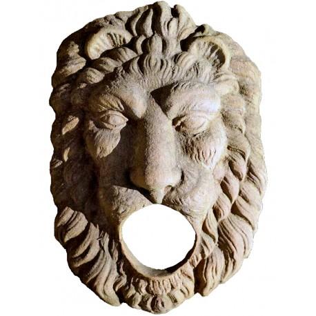 Lion fountain Mask in terracotta