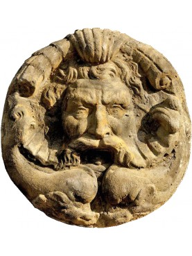 Great concrete roman mask