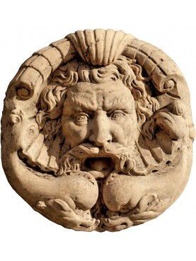 Grande mascherone romano in terracotta