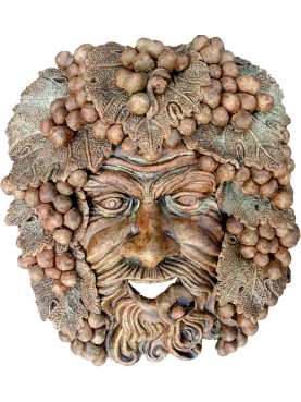 BACCHUS MASK in terracotta