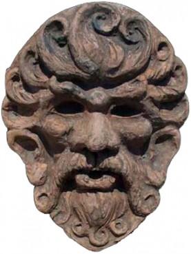Copia di mascherone Pisano in terracotta
