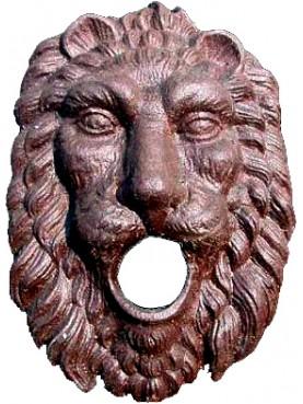 Cast iron lion fountain