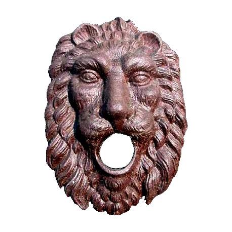 Cast iron lion fountain - Piedmont mask