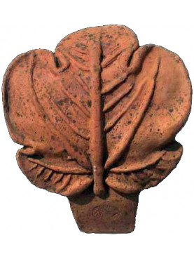 Terracotta flower bed border FIG leaf