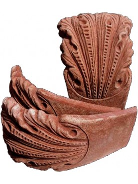 Acanthus leaf terracotta curved flowerbed