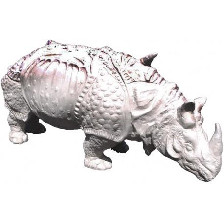 Albrecht Durer's Rhino white terracotta