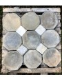 antique slate octagonal floor with marble dot