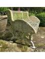 Original cast iron garden bench and wood