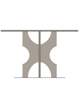 Stone table with steel top