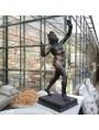Fauno di Pompei in terracotta patinato a bronzo