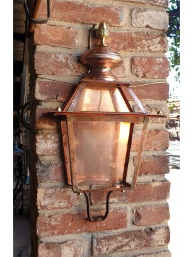 Half Tuscan copper Lantern with pine cone and lower support