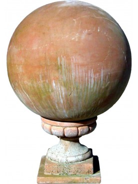 Sfera in terracotta Ø50cm con supporto 26x26 cm