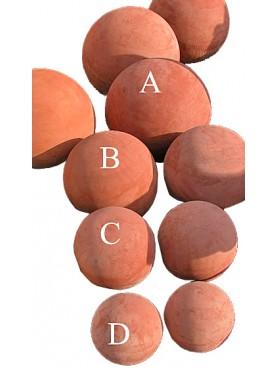 Terracotta spheres Ø30cms