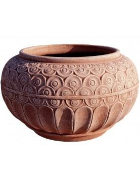 Baroque terracotta cachepot