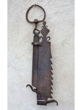 ancient french fireplace chain dated 1833