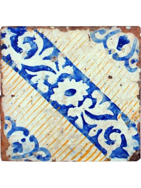 Ancient original majolica tile