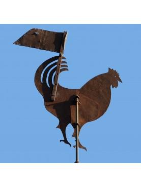 Galletto a vento antico siciliano in FERRO BATTUTO