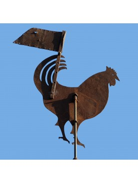 Sicilian antique wind cock in WROUGHT IRON