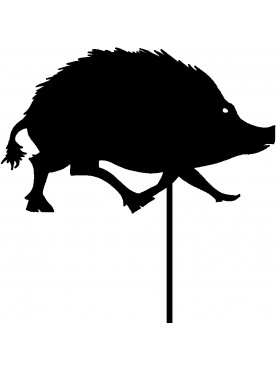 wild boar forged iron weather vane