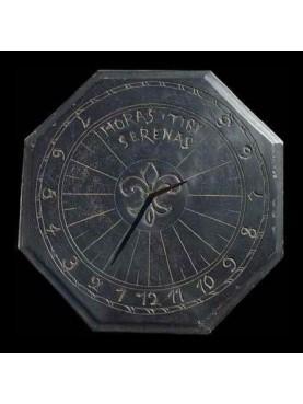 Copia di una meridiana ligure ottogonale in ardesia (Horas Tibi Serenas)