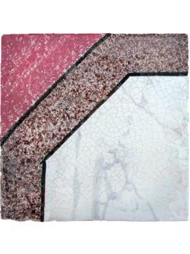 Antica piastrella di maiolica