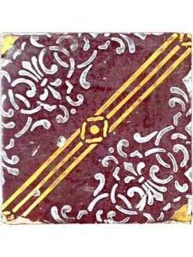 Ancient majolica tile