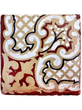 Antica piastrella di maiolica originale