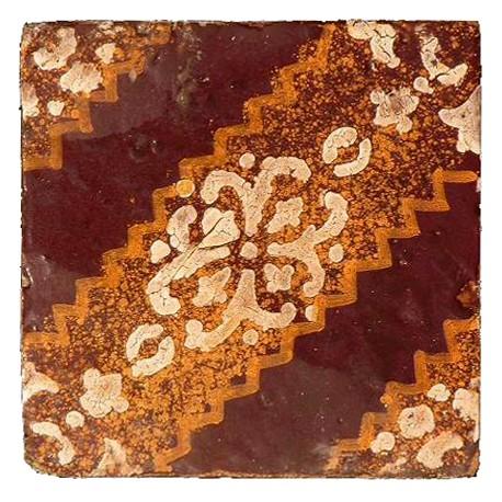 Piastrela antica di maiolica