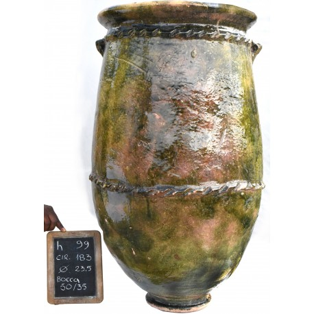 Sahel majolica vases H.99cms