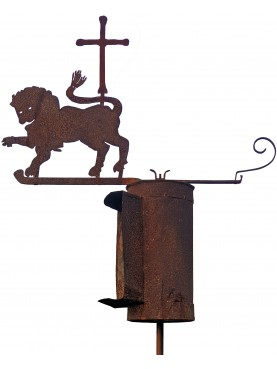 Ancient crusader lion with upwind apparatus - weathervane