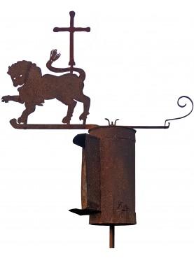 Antico leone crociato con bussola controvento - banderuola