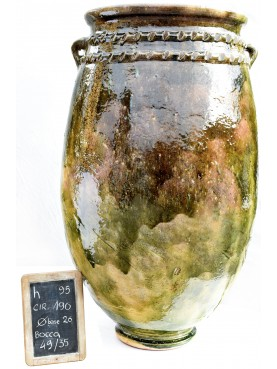 Sahel majolica vases H.95cms