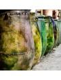 Sahel majolica vases H.77cms