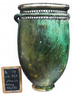 Vasi rigati del Sahel H.77cm in maiolica