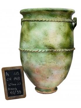 Vasi rigati del Sahel H.68cm in maiolica