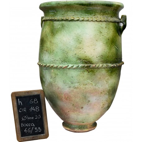 Sahel majolica vases H.68cms
