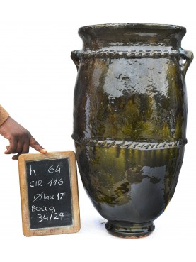 Sahel majolica vases H.64cms
