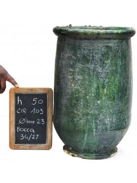 Sahel majolica vases H.50cms
