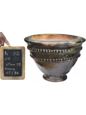 Vasi rigati del Sahel H.32cm in maiolica