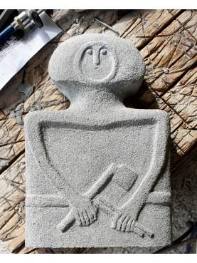 Libera Riproduzione di Statua Stele della Lunigiana Cintura e Ascia