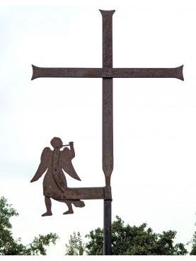 Angelo trombettiere - antica banderuola segnavento con croce