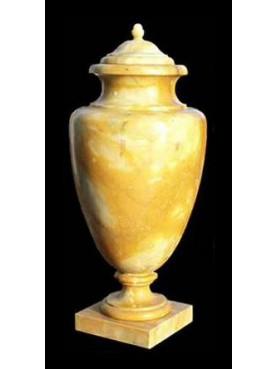 Ferrari vase - yellow Siena marble