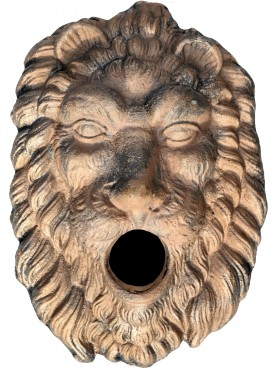 Uncoated bronze lion mask