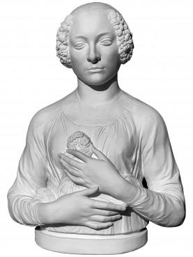 La Dama col Mazzolino del Verrocchio copia in gesso